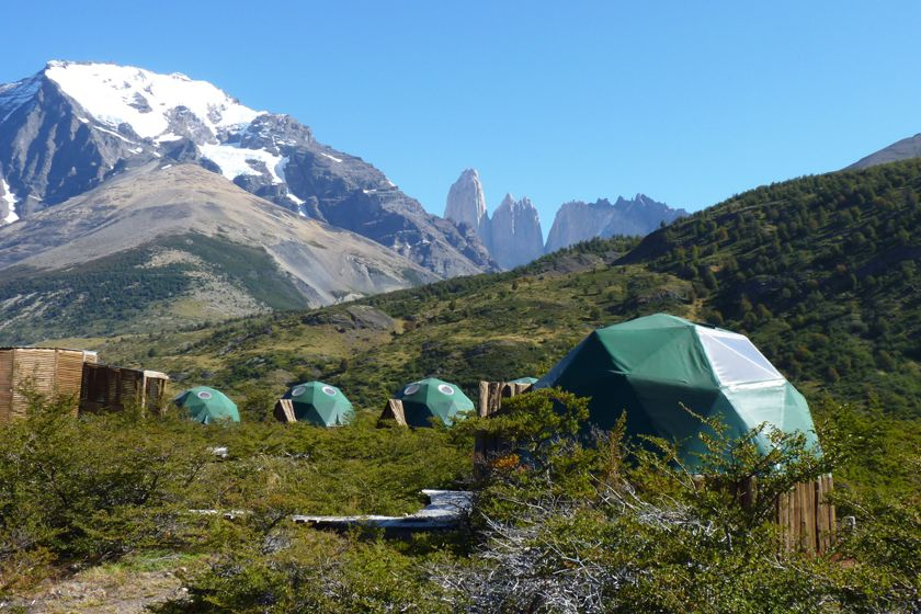 Guest tents at EcoCamp, Torres del Paine