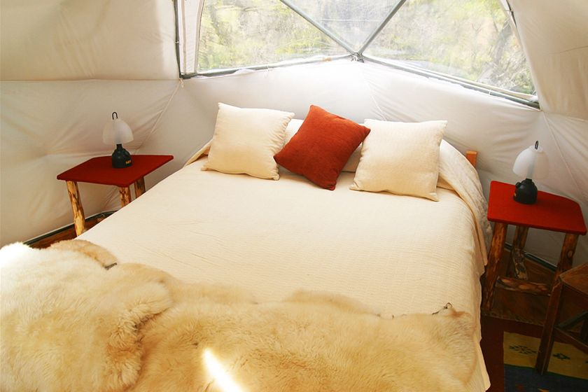 Bed at  EcoCamp, Torres del Paine