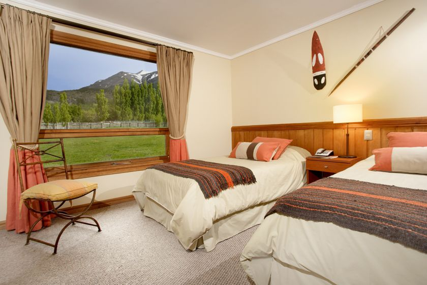 Twin room at Hotel Las Torres, Torres del Paine National Park