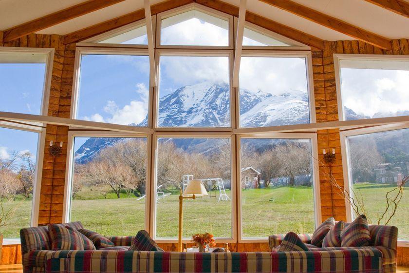 Lounge at Hotel Las Torres, Torres del Paine National Park