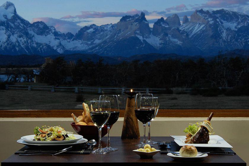 Restaurant at Hotel Rio Serrano, Patagonia