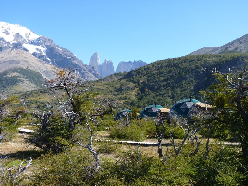 View of las torres from EcoCamp Patagonia