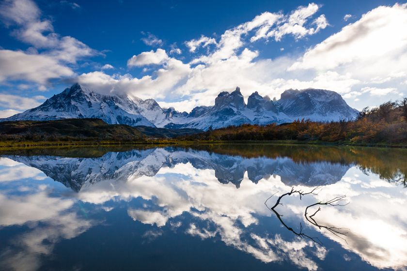 The dramatic wilderness of the Torres del Paine