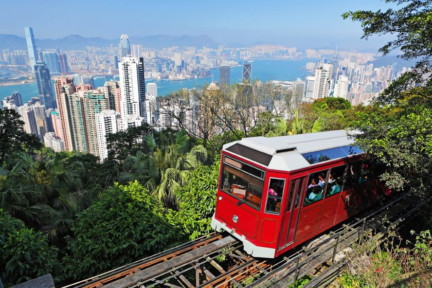 The Peak railway, Hong Kong