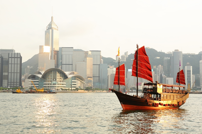 Chinese junk, Hong Kong
