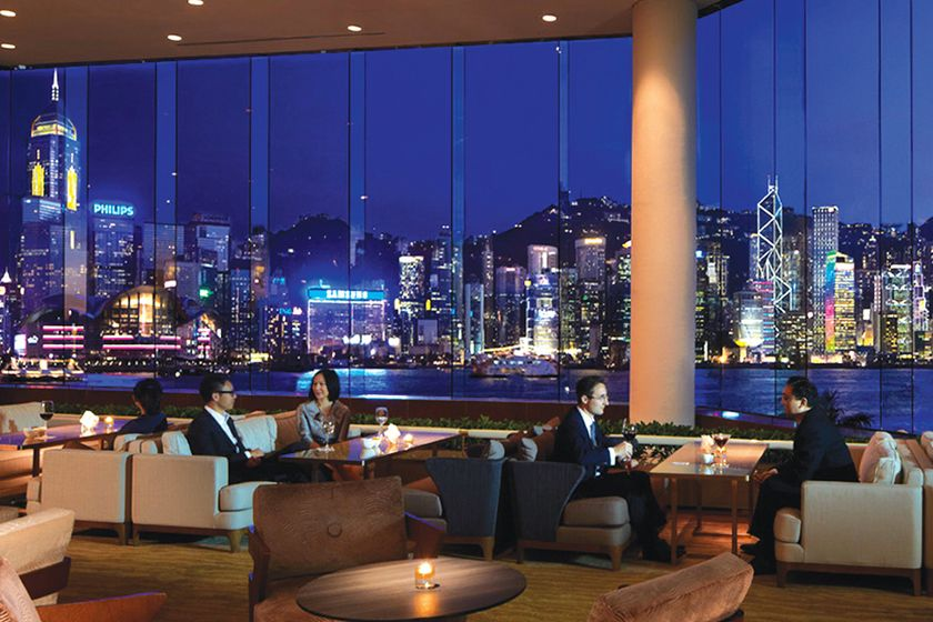 Lobby lounge at Intercontinental Hong Kong