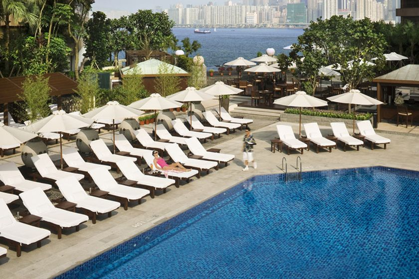 Main pool at Intercontinental Hong Kong