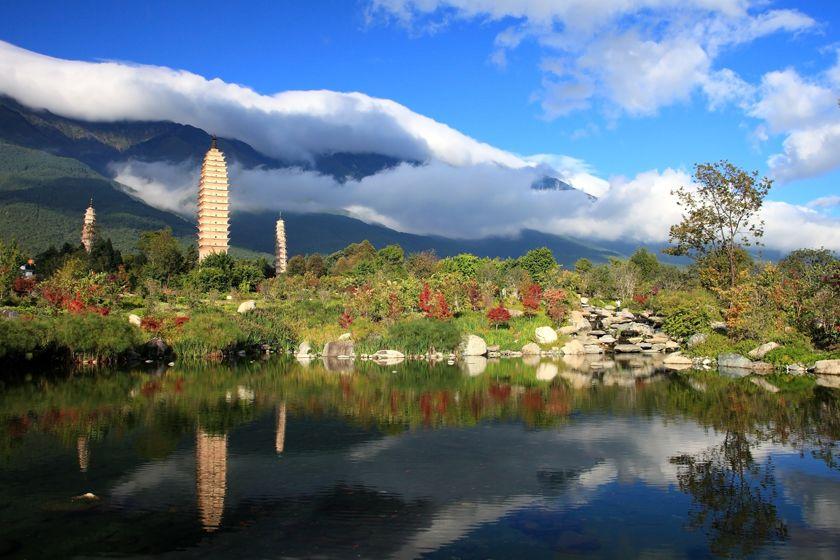 Three White Pagodas, Dali, Yunnan