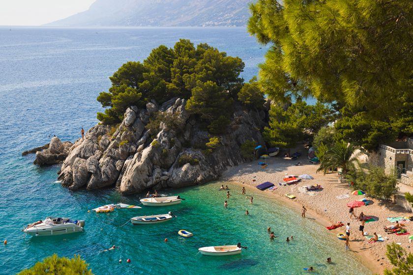 Sheltered beach nr Makarska, Croatia
