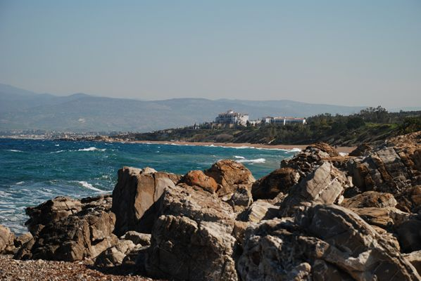 View back to Anassa from the beach