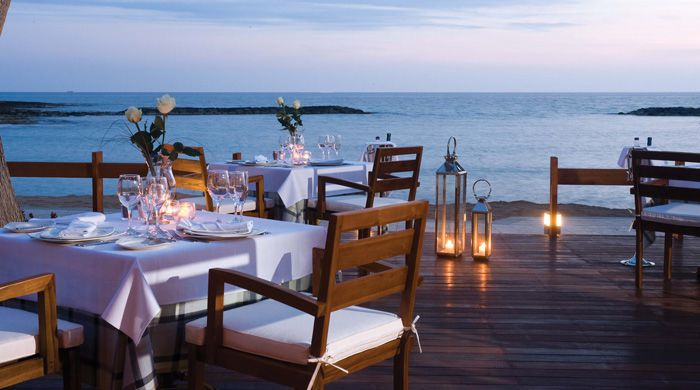Dining al fresco at Asimina Suites, Paphos, Cyprus