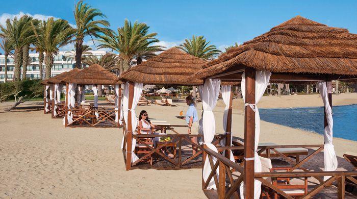 Beach cabanas, Asimina Suites, Cyprus