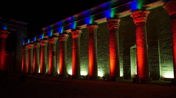 Light show at Edfu