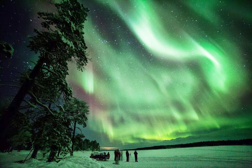 Aurora at Nellim, Finland