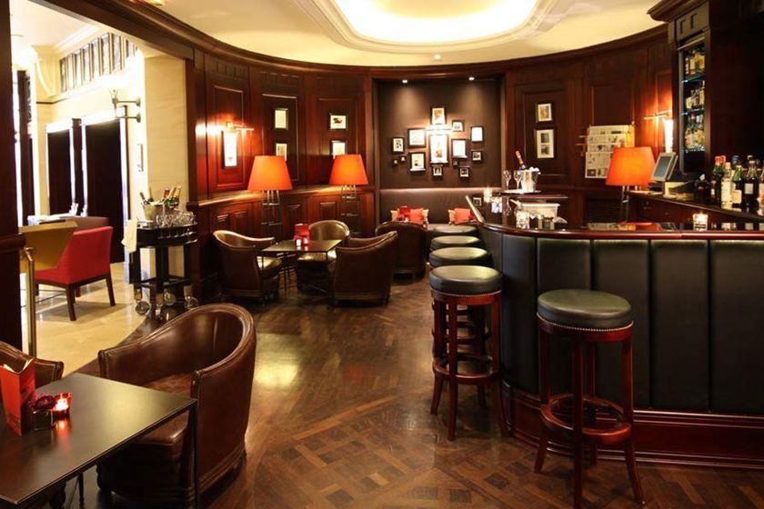 Bar at the Hotel Pont Royal, Paris