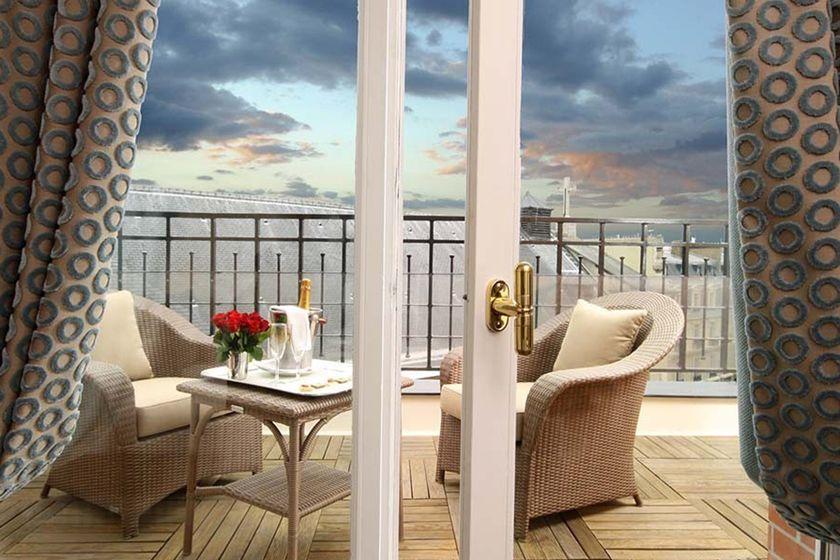 Terrace at the Hotel Pont Royal, Paris