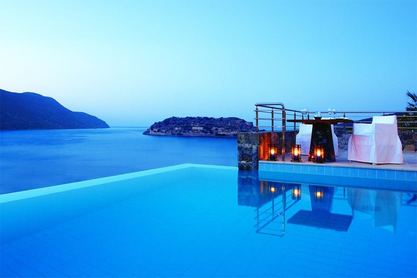 Dining with a view at Blue Palace, Crete