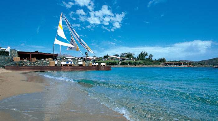 The beach at Elounda Bay Palace, Crete