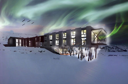 Hotel Ion Northern Lights display Iceland