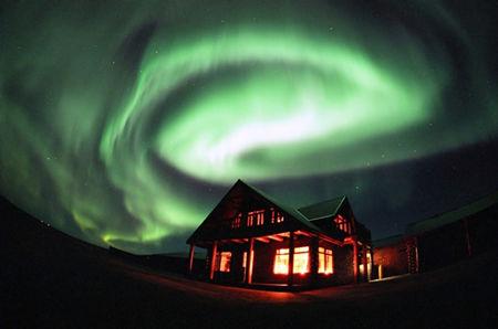 Hotel Ranga Northern lights display iceland