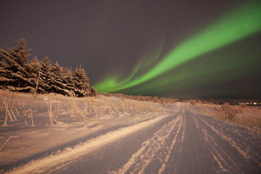 Northern lights, Icelandic winter