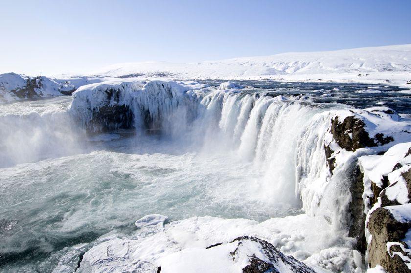 Goðafoss in the winter