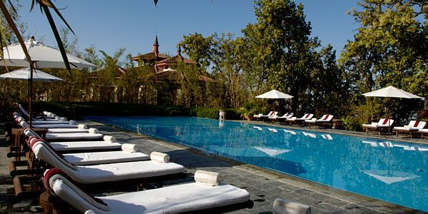 Outdoor pool, Ananda in the Himalayas