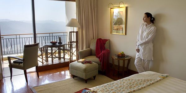 Valley View room, Ananda in the Himalayas