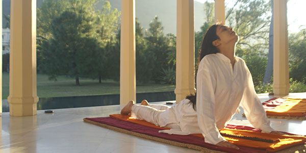 Yoga exercises, Ananda in the Himalayas