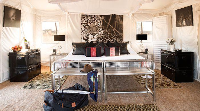 Tent interior, Jawai Leopard Camp