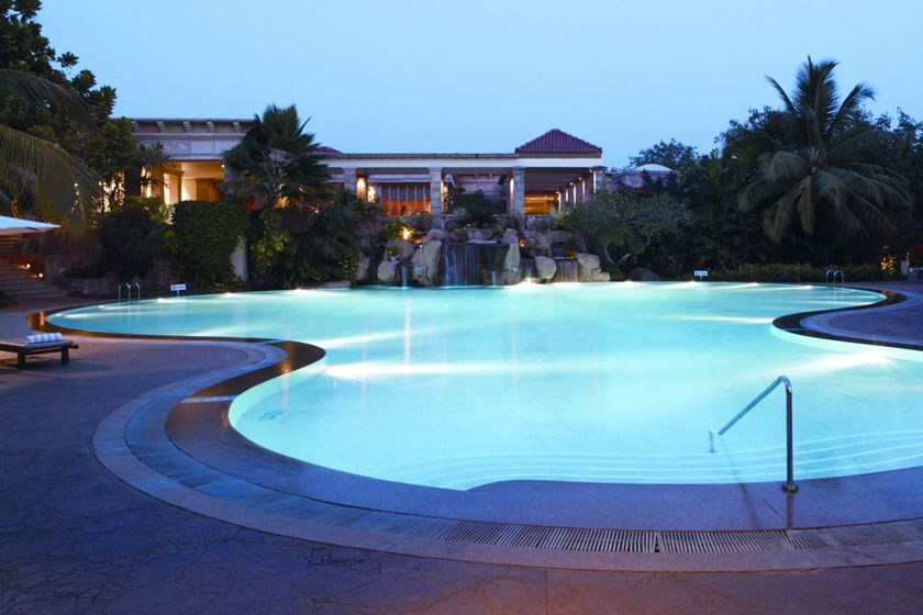 Outdoor pool at the Leela, Goa