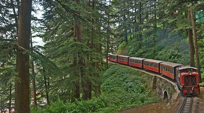 Kalka-Shimla train line ride