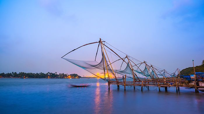 Chinese fishing nets in Kochi, India