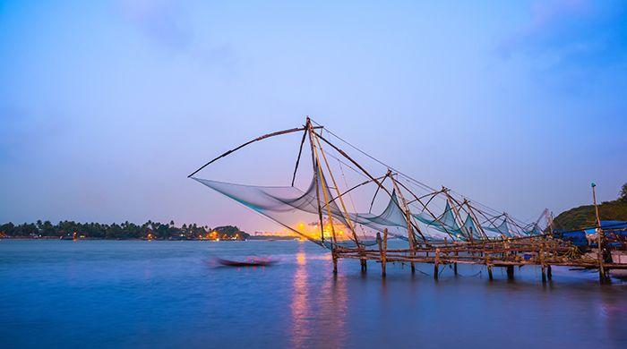 Chinese fishing nets in Kochi, India