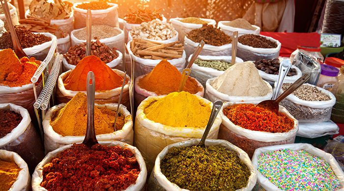 Coloured spices, India