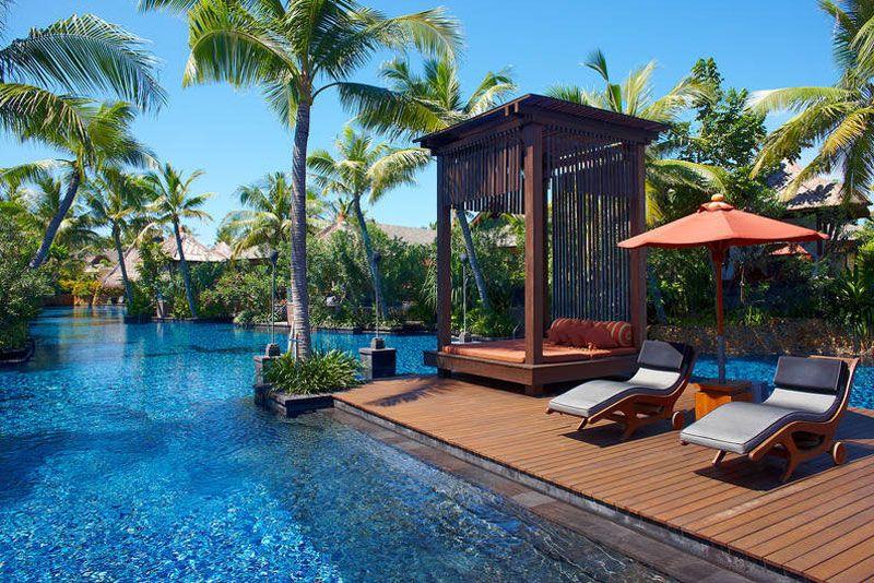 St Regis Bali Resort lagoon deck
