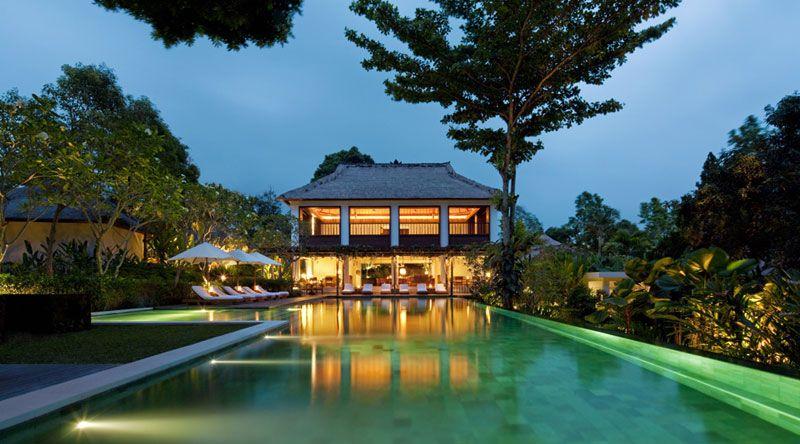 Pool at dusk, Uma Ubud