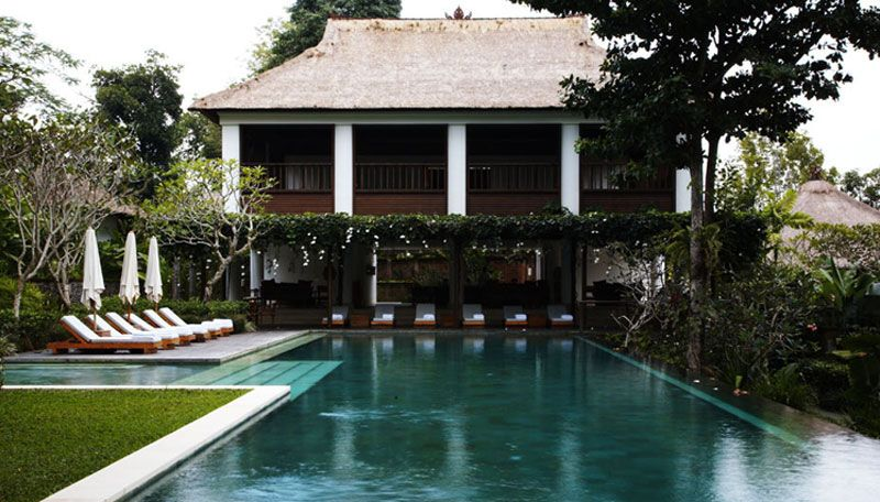Pool, bar and yoga pavilion, Uma Ubud