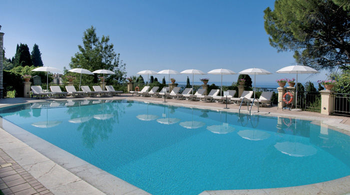 Pool at Grand Hotel Timeo, Sicily