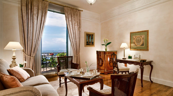 Suite at Grand Hotel Timeo, Sicily