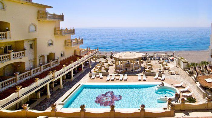 Pool terrace, Hellenia Yachting Hotel, Sicily