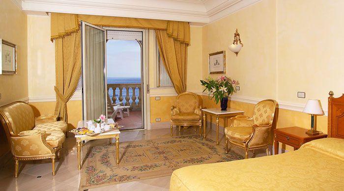 Sea-facing room at Hellenia Yachting Hotel, Sicily