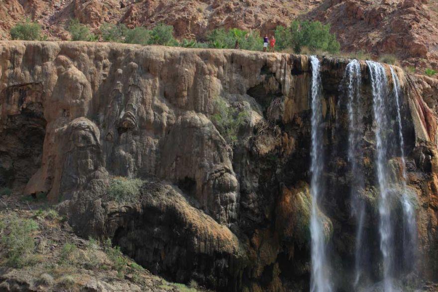 Thermal waterfall, Evason Ma'In Hot Springs, Jordan