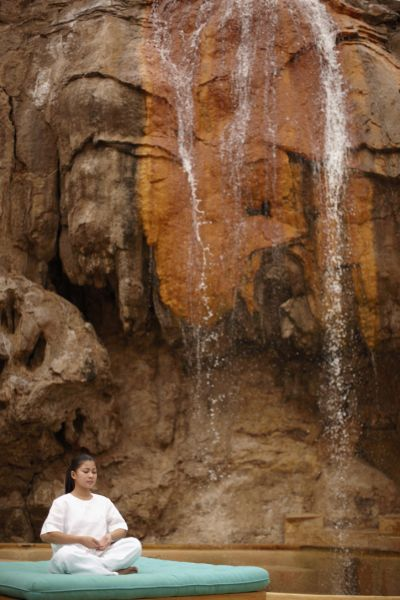 Yoga & meditation by the spring, Evason Ma�in Hot Springs, Jordan