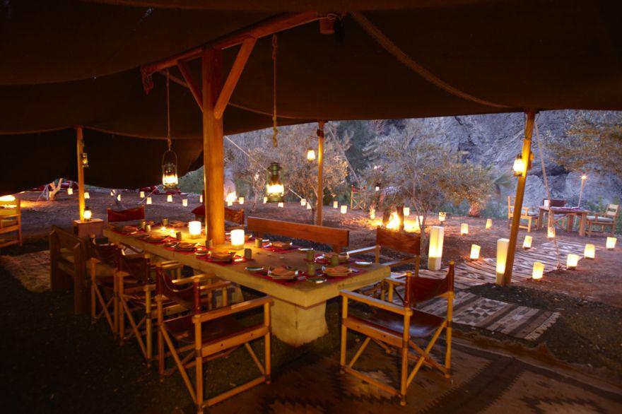 Zarb in the Olive Bedouin dining, Evason Ma'In Hot Springs, Jordan