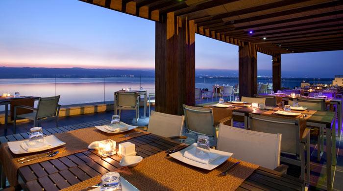 Terrace at Codes Restaurant, Kempinski Hotel Ishtar, Jordan