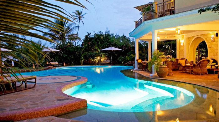 The pool, AfroChic Diani, Mombasa, Kenya