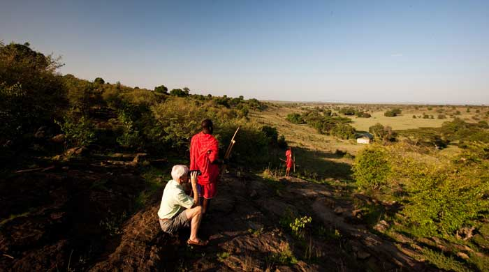 Bush walk, Kicheche Mara Camp, Kenya
