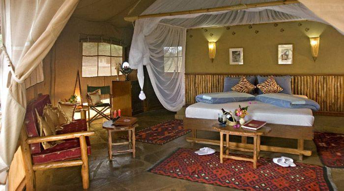 Luxury tent, Severin Safari Camp, Kenya
