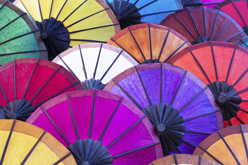 Colourful umbrellas, Luang Prabang, Laos